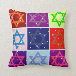 POP ART DESIGNER PILLOWS - JUDAICA - HANUKAH GIFTS
