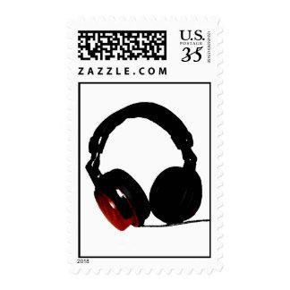 Pop Art Digital Headphone Silhouette Stamp