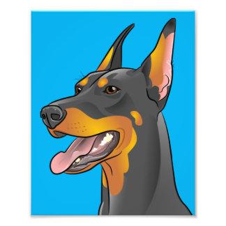 Pop Art Doberman Pinscher Dog Art Print Photo Print