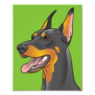 Pop Art Doberman Pinscher Dog Print Photo Print