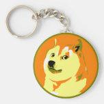 Pop Art dogecoin design Basic Round Button Keychain