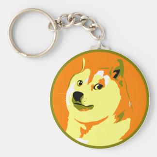 Pop Art dogecoin design Keychain