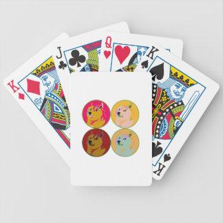 Pop Art dogecoin design Poker Deck