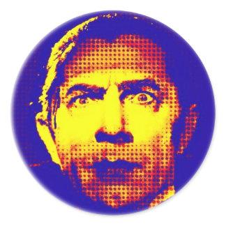 Pop Art Dracula Classic Round Sticker