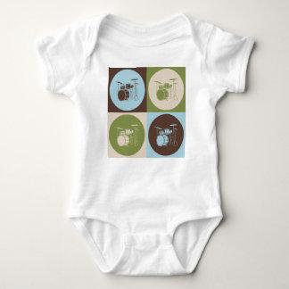 Pop Art Drums Baby Bodysuit