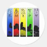 Pop Art EarthShift 2012 Round Stickers