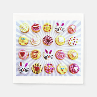Pop Art Easter Cupcakes Paper Napkin