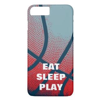 Pop Art Eat Sleep Play Basketball Motivational iPhone 7 Plus Case