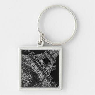 Pop Art Eiffel Tower Paris Keychain