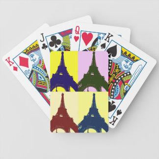 Pop art Eiffel tower Bicycle Card Decks