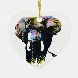 Pop Art Elephant Ceramic Ornament