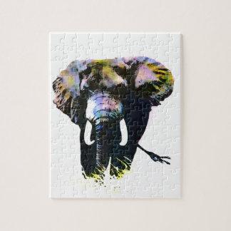 Pop Art Elephant Jigsaw Puzzle