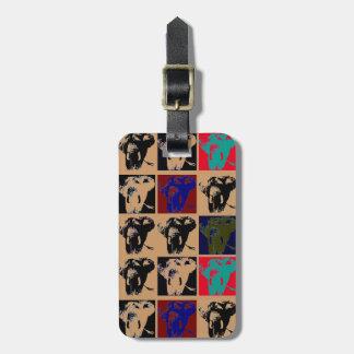 Pop Art Elephant Travel Bag Tag