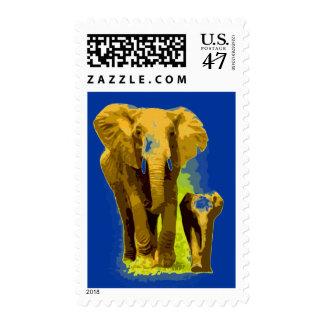 Pop Art Elephant Postage