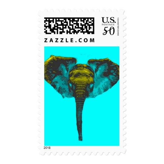 Pop Art Elephant Postage Stamps