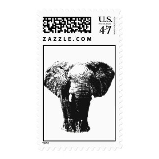 Pop Art Elephant Stamps