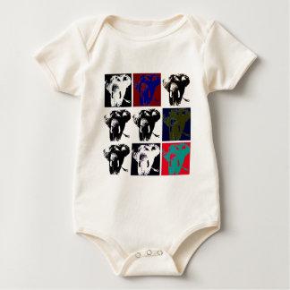 Pop Art Elephants Baby Bodysuit