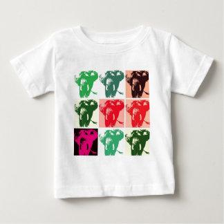 Pop Art Elephants Baby T-Shirt