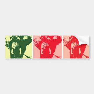 Pop Art Elephants Bumper Sticker