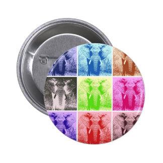 Pop Art Elephants Button