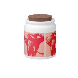 Pop Art Elephants Candy Jar