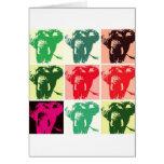 Pop Art Elephants Card