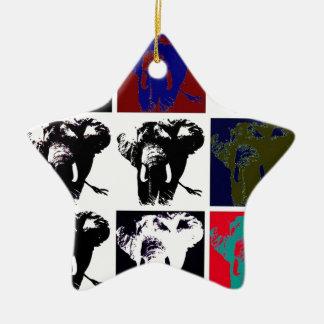 Pop Art Elephants Ceramic Ornament