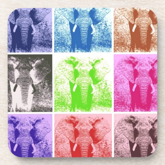 Pop Art Elephants Coaster