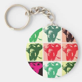 Pop Art Elephants Keychain