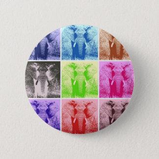 Pop Art Elephants Pinback Button
