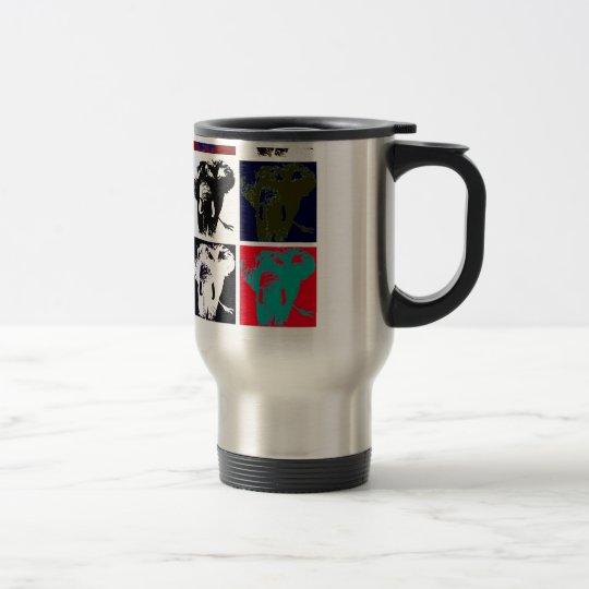 Pop Art Elephants Travel Mug