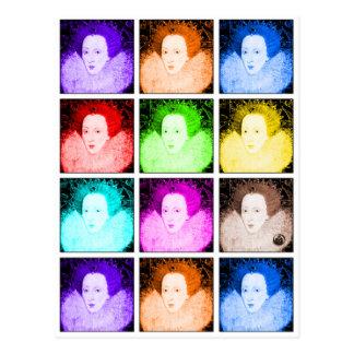 Pop Art Elizabeth I Postcard