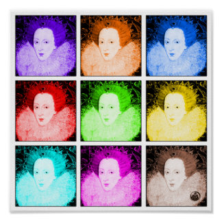 Pop Art Elizabeth I Poster
