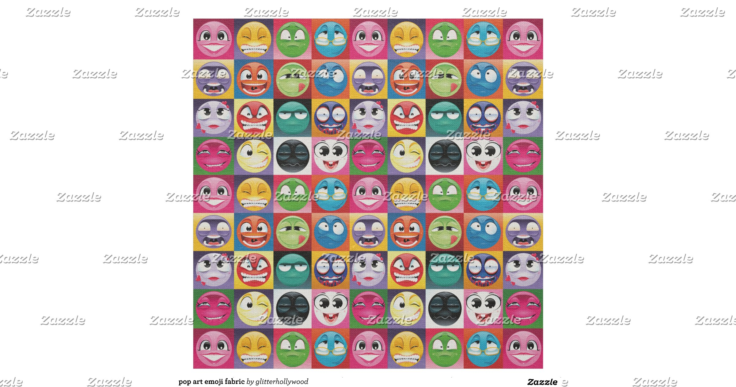 Pop art emoji fabric rccc5dd03aa224665a0904d1f1a4c85c0 zl6qd for Emoji material by the yard