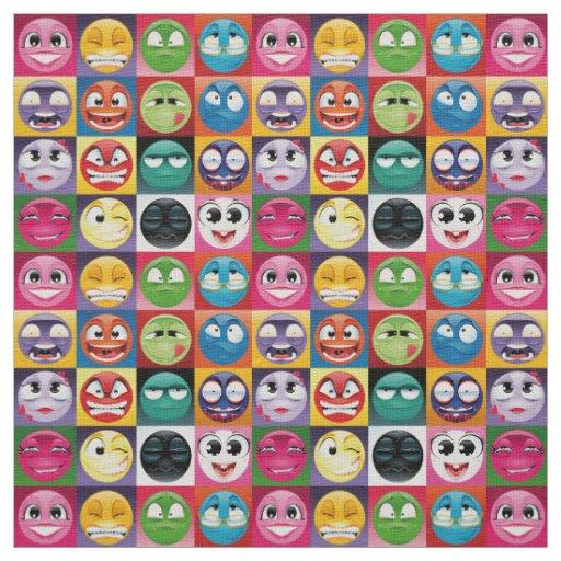 Pop art emoji fabric zazzle for Emoji fabric