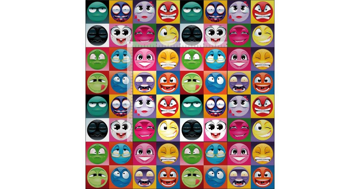 Pop art emoji fabric zazzle for Emoji material by the yard