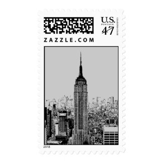 Pop Art Empire State Building Postage