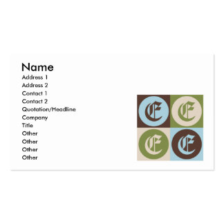 Pop Art English Double-Sided Standard Business Cards (Pack Of 100)