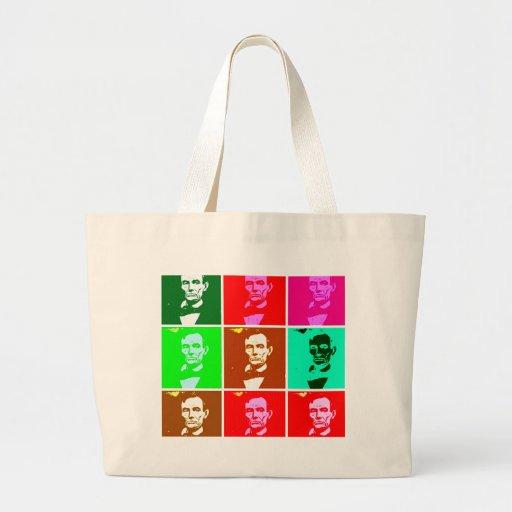 Pop Art .esque Abraham Lincoln Bag