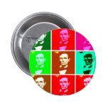Pop Art .esque Abraham Lincoln Pinback Button