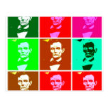 Pop Art .esque Abraham Lincoln Postcard