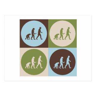 Pop Art Evolutionary Biology Postcard