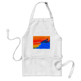 Pop Art Exotic Beach Palm Trees Adult Apron