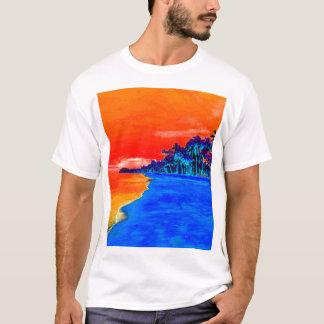 Pop Art Exotic Beach Palm Trees T-Shirt