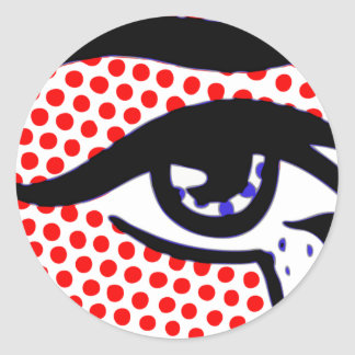 Pop Art Eye Classic Round Sticker