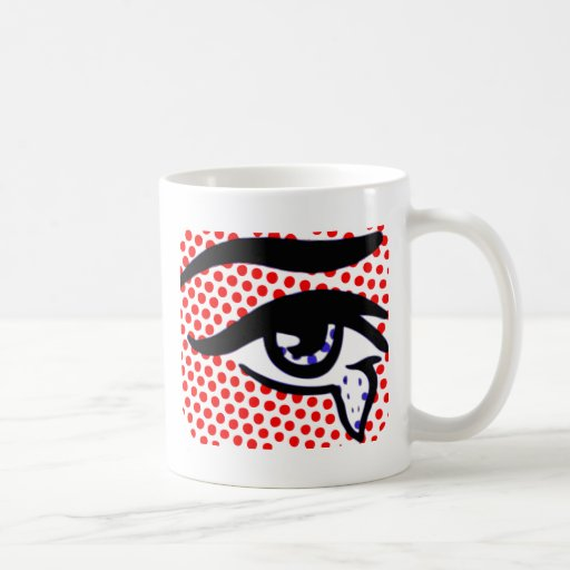 Pop Art Eye Classic White Coffee Mug