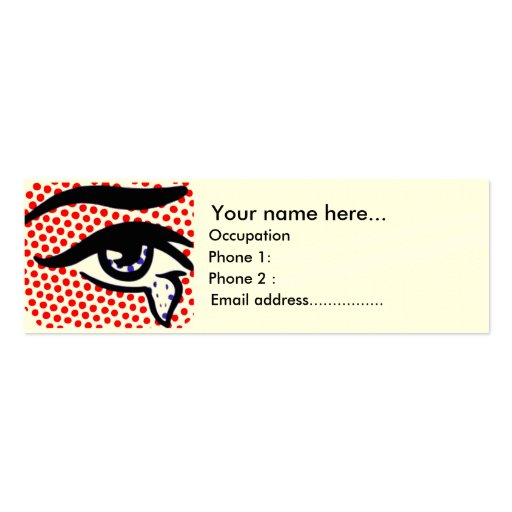 Pop Art Eye Double-Sided Mini Business Cards (Pack Of 20)