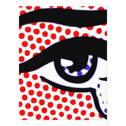 Pop Art Design Pop Art Eye Flyer Design Zazzle
