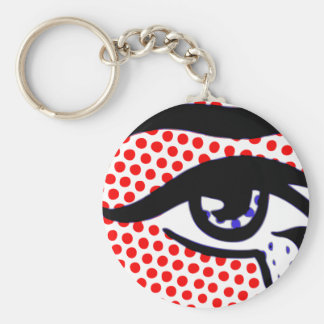 Pop Art Eye Keychain