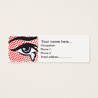 Pop Art Eye Mini Business Card